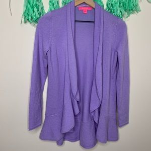 Lilly Pulitzer Lilac Marette Cashmere Cardigan
